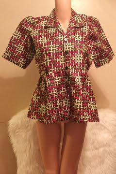 African V-Neck Buttoned Shirt