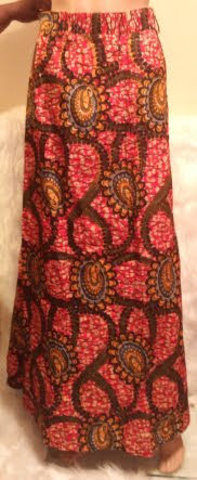 African Long Skirt Elastic Top
