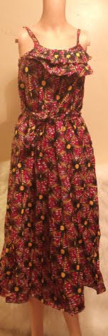 African Spaghetti Blouse Top Dress