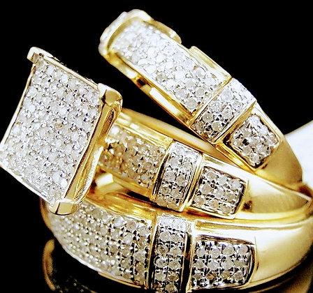 3 Pcs Bohemian Ring