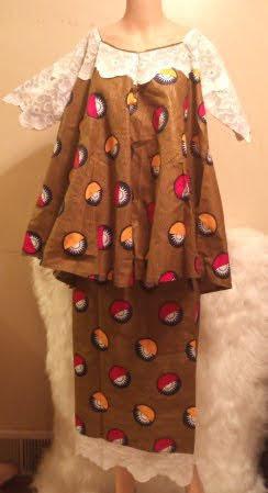 African 2 Piece Skirt-Suit