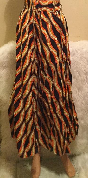 African  super print skirt   for  women