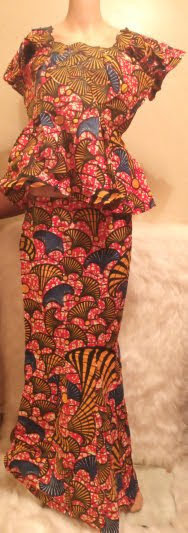 African Traditional Skirt-Suit Attire Dress