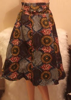 African Skirt With Elastic Grab