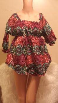 African Fabric Short Dress