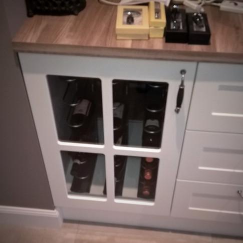 wijnkast gesloten