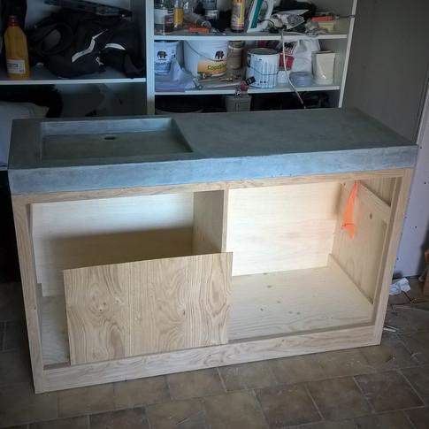 opbouw badmeubel in fineer