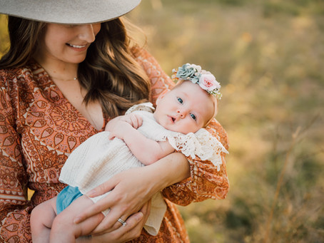 Broussard family | Outdoor newborn session | Katy, Texas
