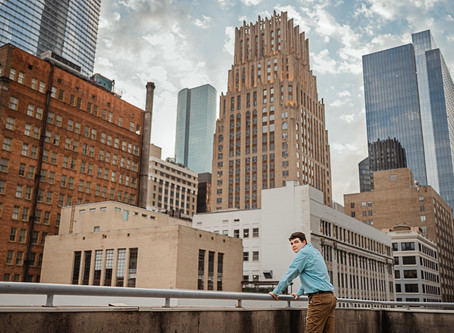 Grant | Senior session | Downtown Houston