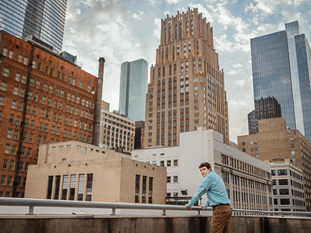 Grant | Senior session | Downtown Houston