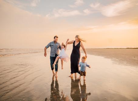 Parker Family | Galveston Beach | Family session