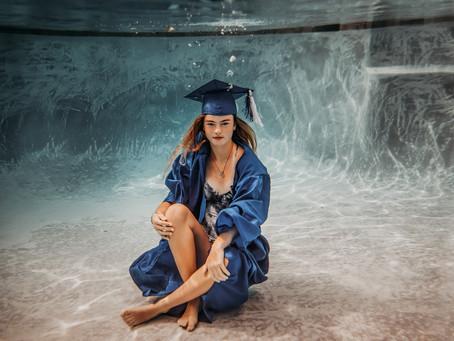 Emmie's Graduation | Underwater session | Katy Senior pictures