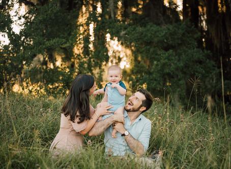 Malek family | Outdoor sunset session | Katy, Texas