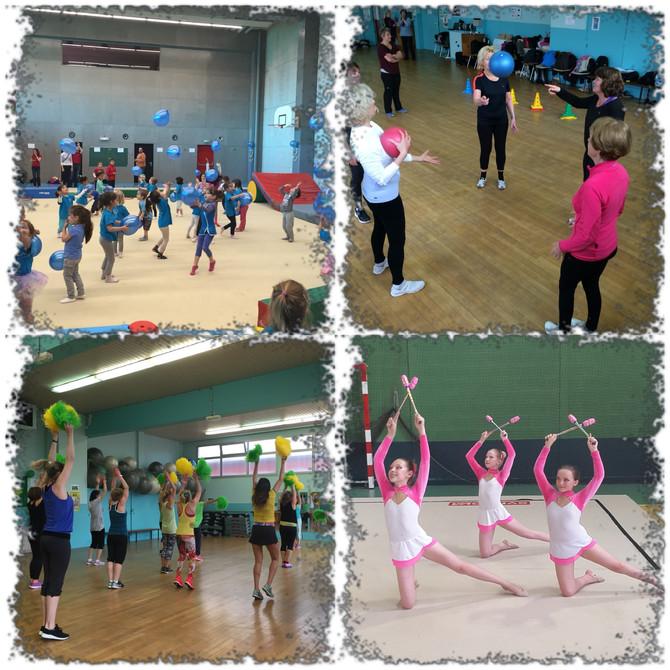 C'est la reprise : un club pour la famille Baby gym, Gym Rythmique, Gym Senior, Gym pour tous