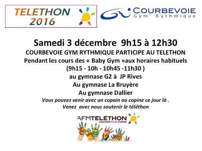 Téléthon samedi 3 décembre