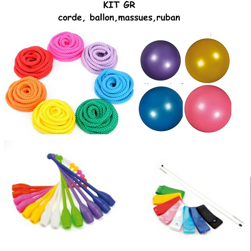 KIT GR : Corde,ballon,massues,ruban