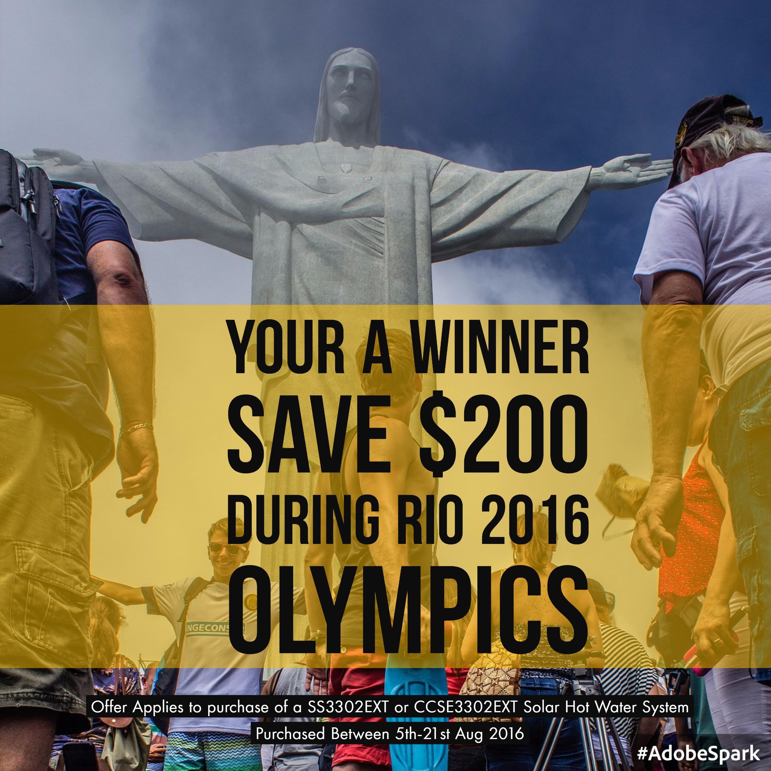 Rio 2016 Save $200