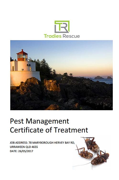 Pest Management Certificate