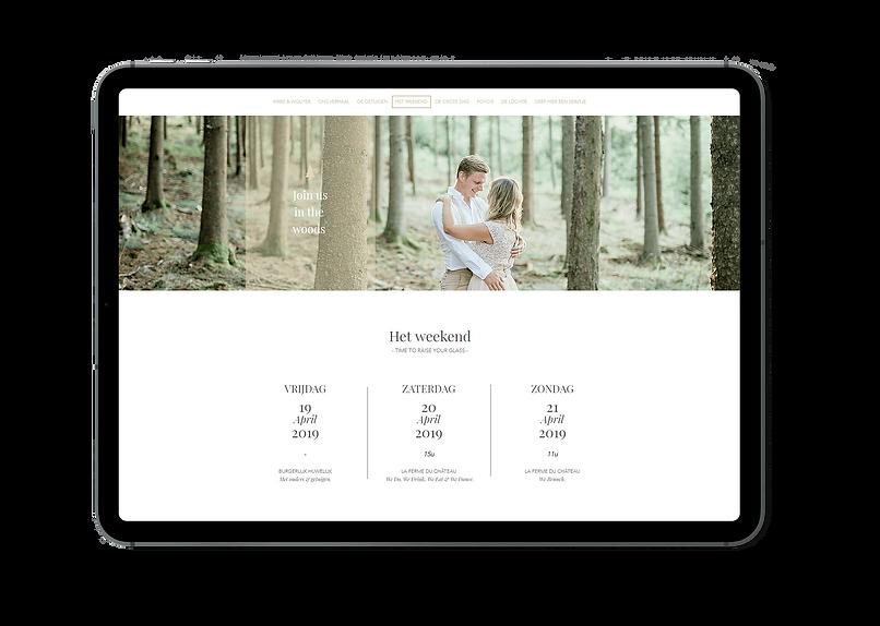 Huwelijkswebsite, trouwwebsite, bruiloftsite door Maison unieK.
