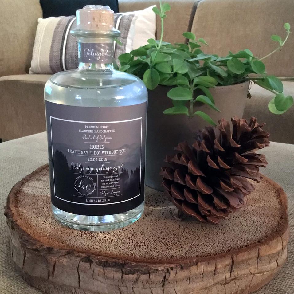 Cadeau Robin Gepersonaliseerde  fles Gin