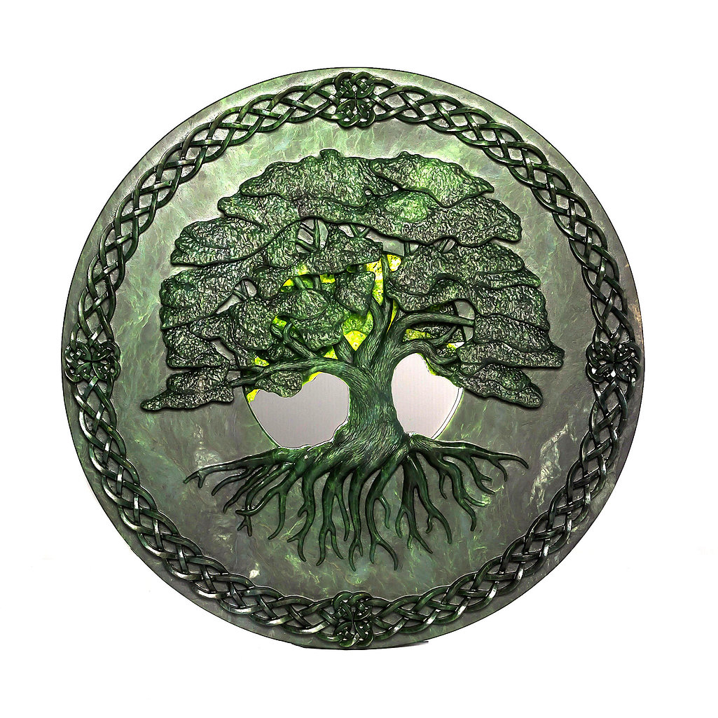 jade carving celtic disk