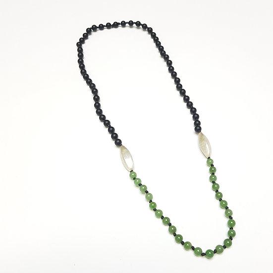 2tone Black and Green jade