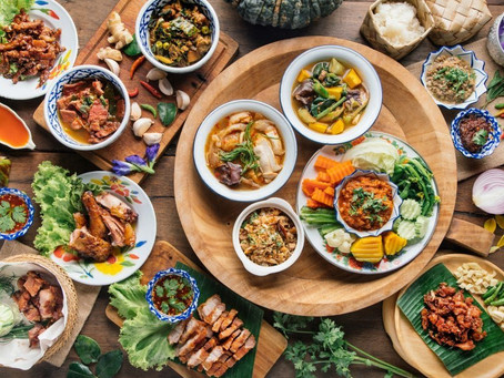 Popular local herbs and vegetables that are often found in Thai food!