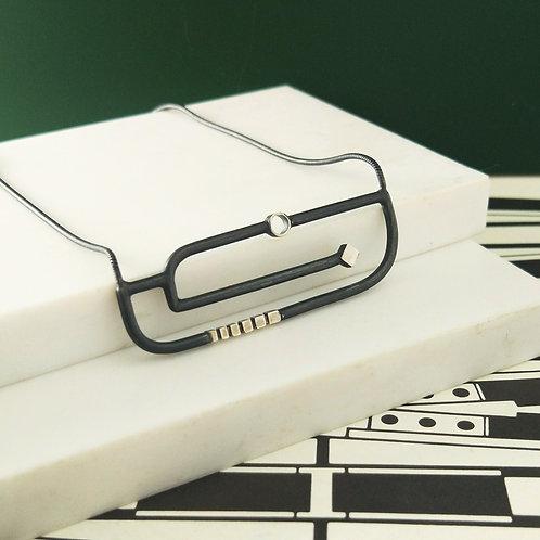 Art Deco Inspired Horizontal Necklace
