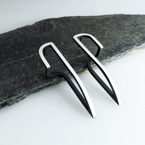 Long Continuum Arc Earrings