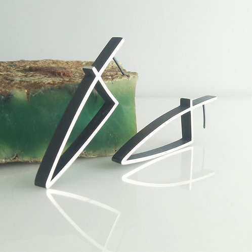 OUTLINE Earrings- Intersected Triangle