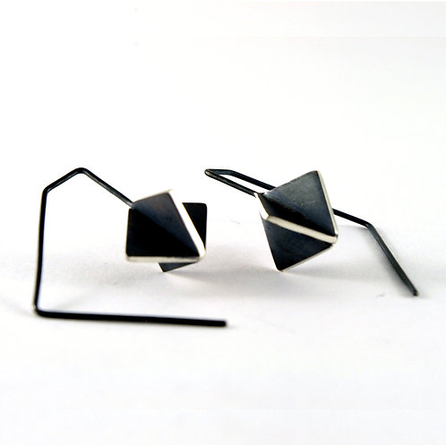 Cube X-series hook earrings