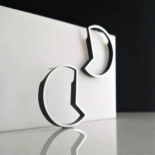 OUTLINE Earrings- Segmented Circle