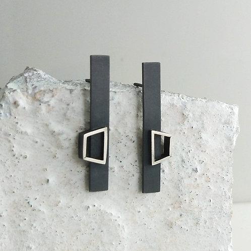 Angular Floating Outline Earrings