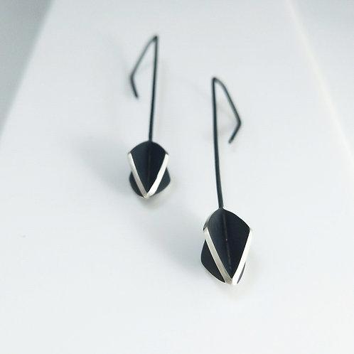 Long Diamond Form X-series Earrings