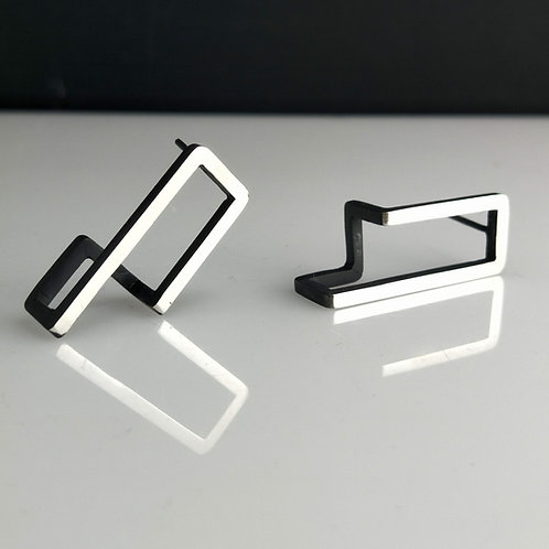 Short Continuum Rectangle Earrings