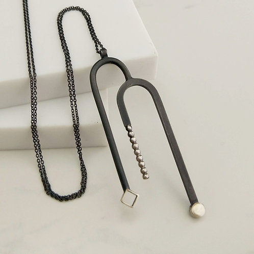 Art Deco Inspired Arched Necklace