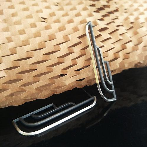 Modern Art Deco Railing Earrings