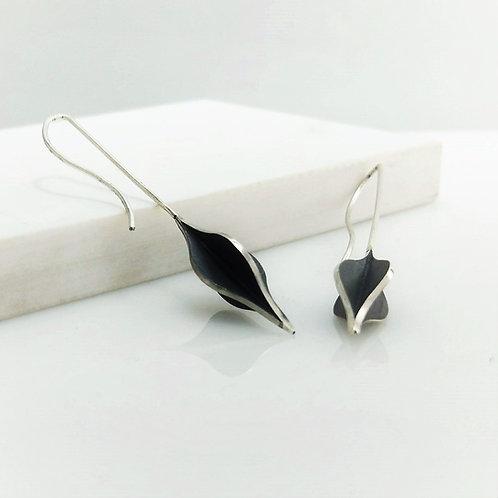 Long Flame Form X-series Earrings