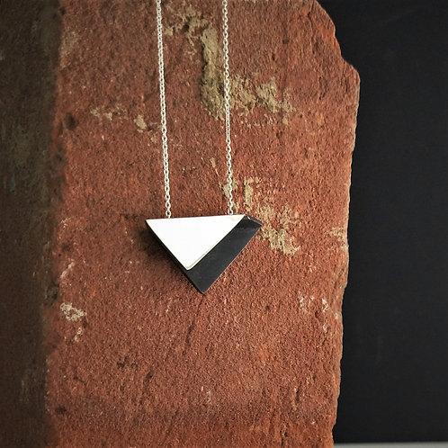 Black Triangular bi-fold necklace