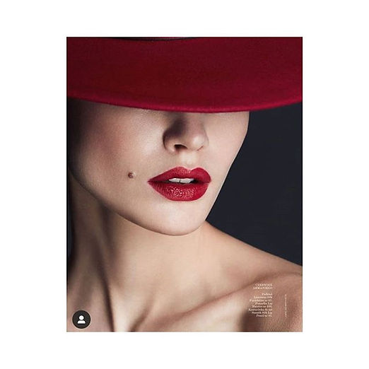 Armani's red and my hat in the latest _v
