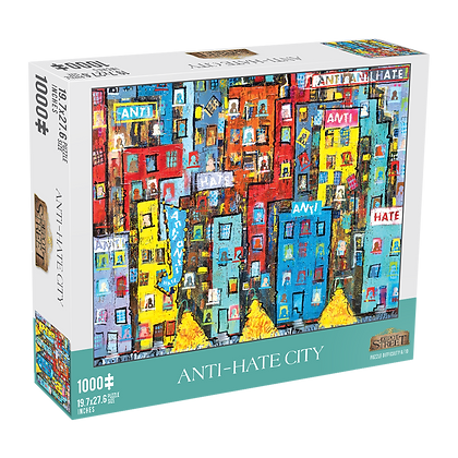 Anti-Hate City 1,000 Piece Jigsaw Puzzle