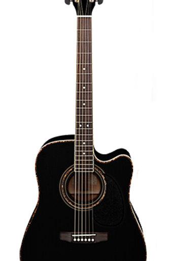 Cort AD880CE-BK Standard Series Электро-акустическая гитара, с вырезом, черная