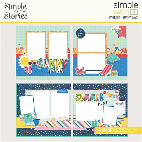 Simple Stories Simple Pages Page Kit -Sunny Days