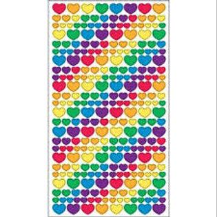 Sticko - Metallic Rainbow Heart Stickers