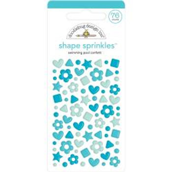 Doodlebug Design - Shape Sprinkles - Swimming Pool Confetti