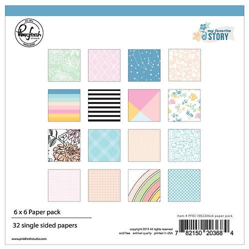 Pink Fresh Studios - My Favorite Story - 6x6 Paper pad