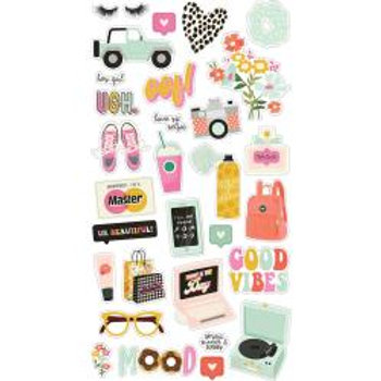 Simple Stories - Kate & Ash Chipboard Stickers