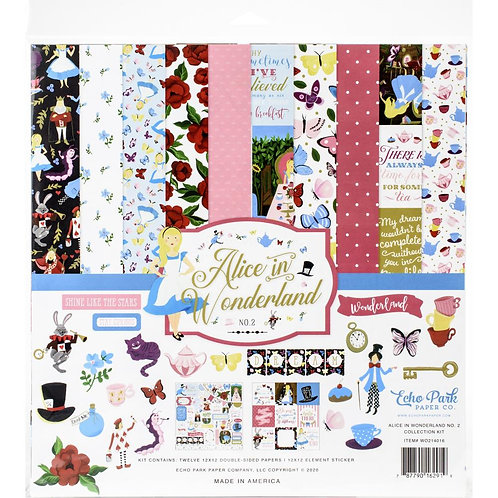 "Alice in Wonderland - Echo Park Collection Kit 12""X12"""