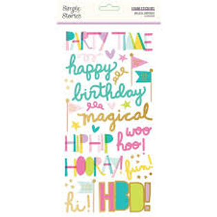 Simple Stories - Magical Birthday Foam Stickers
