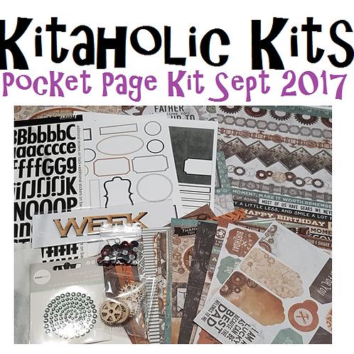 Kitaholic Kits Sept 2017 - Pocket Page Kit